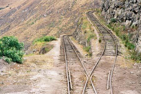 cordillère des Andes Rails
